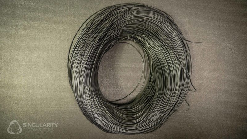 Wire 22AWG Black